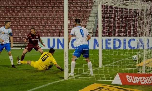 CFR Cluj pierde primul derby din play-off și ratează șansa urcării în vârful clasamentului