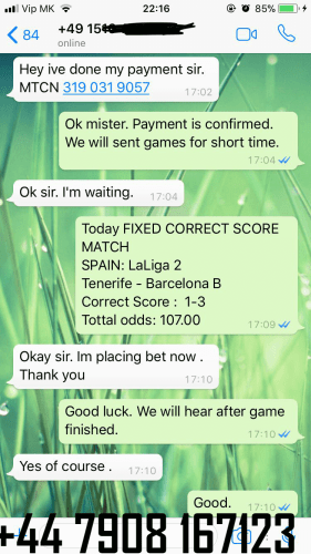 FIXED MATCHES PROOF