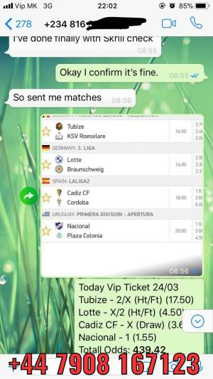 VIP TICKET FIXED MATCHES 100 SURE