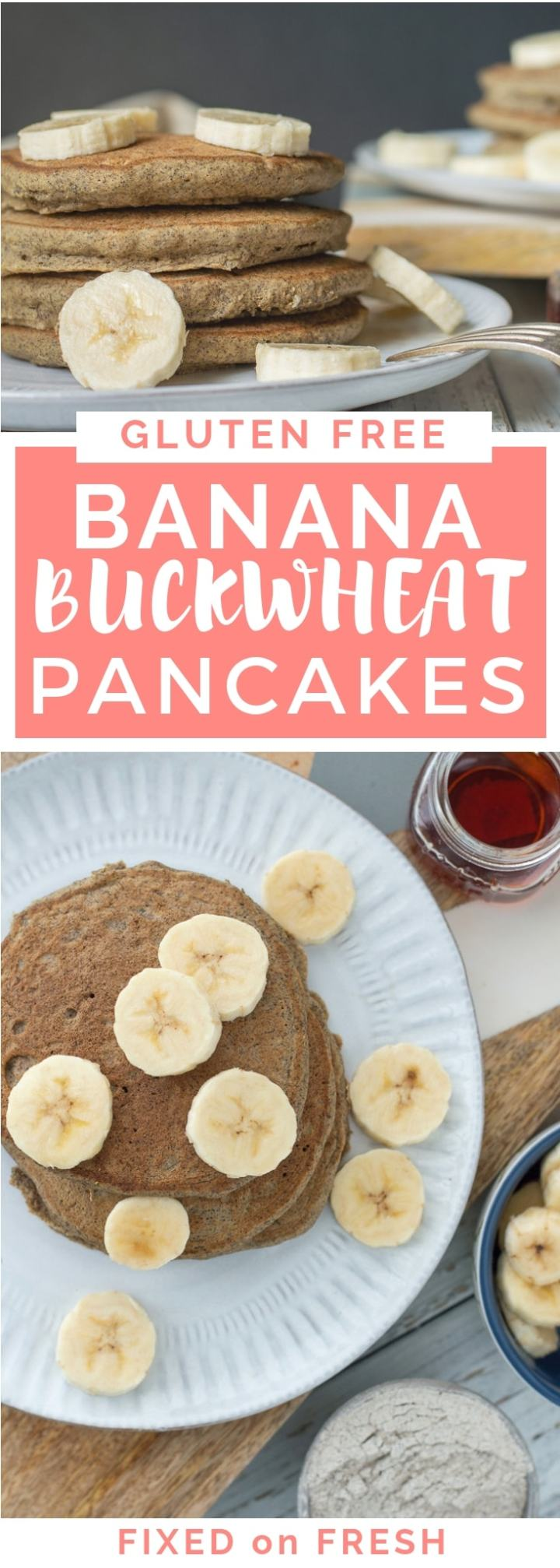 Gluten Free Banana Buckwheat Pancakes are an awesome healthy breakfast that is a great way to make use of leftover bananas.