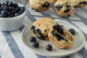 Fixed on Fresh - Vegan Gluten Free Blueberry Almond Muffins {gluten free, dairy free, egg free}