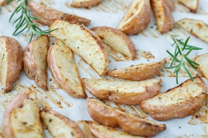 Golden roasted potatoes
