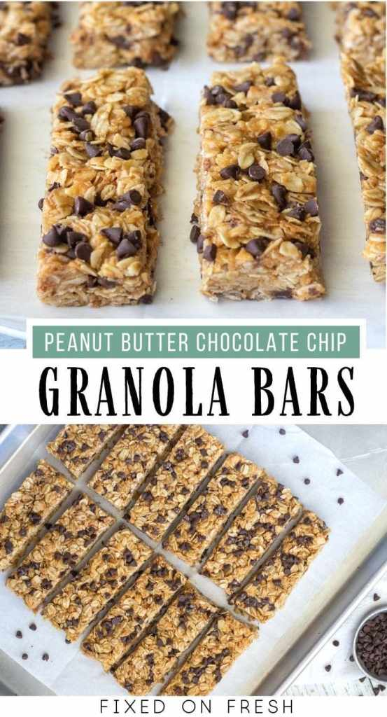 No bake peanut butter chocolate chip  oatmeal bars are made with old fashioned oats and toasted coconut with chocolate chips, honey and peanut butter to make a better version of chewy granola bars.