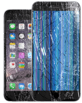 Front glass broken or the LCD ?
