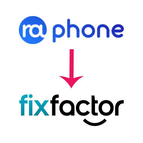 Raphone Changes name to Fixfactor - under old management and ownership