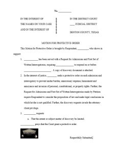 Protective Order Motion w logo