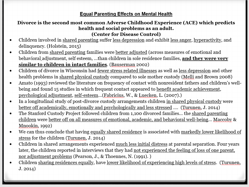equal parenting effects on mental health