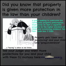 property more protection than children