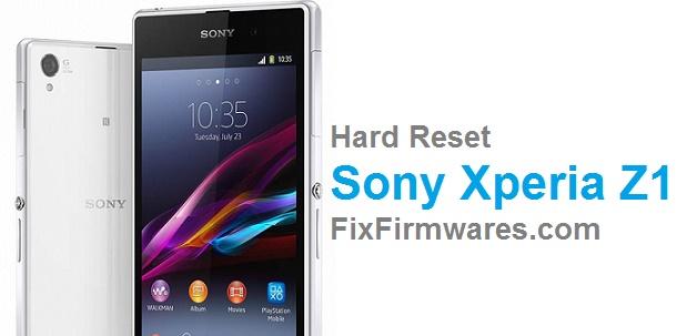 Hard Reset Sony Xperia Z1