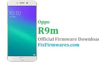 Firmware Oppo, Oppo R9m,
