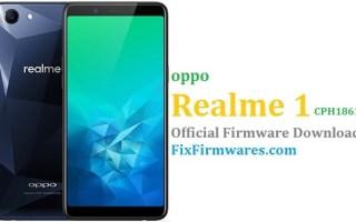 Oppo Realme 1, CPH1861,
