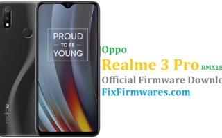 Oppo Realme 3 Pro, Realme 3 Pro, RMX1851EX