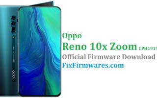 CPH1919EX, Oppo Reno 10x Zoom, Firmware Oppo,