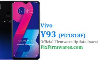 Vivo Y93 Firmware, PD1818F,