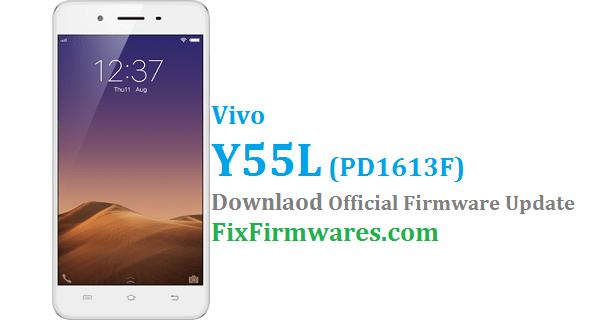 Vivo Y55L Flash File, PD1613F, Vivo Y55L