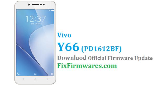 Vivo Y66 Firmware - PD1612BF | Vivo Global Firmware (Free)