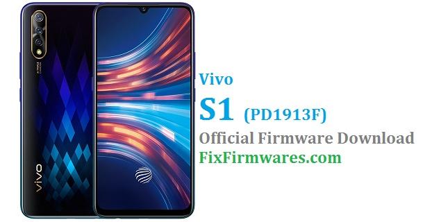 Vivo S1 Firmware (1913) PD1913F (Free) | Fix Firmwares
