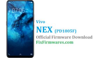 Vivo Nex Firmware, Vivo Nex, Nex, PD1805F,