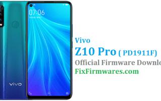 Vivo Z1 Pro Firmware, Vivo Z1 Pro, PD1911F
