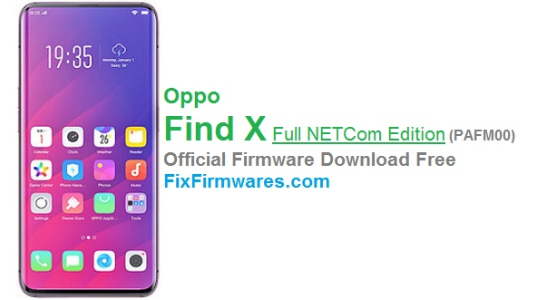 Oppo Find X Netcom, PAFM00