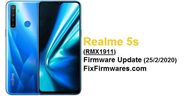 Realme 5s (RMX1911) Firmware Update || Fix Firmwares