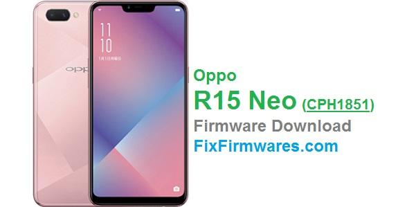 Oppo R15 Neo (CPH1851) Firmware