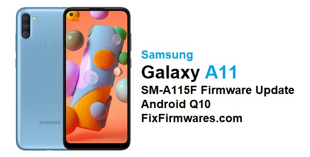 SM-A115F Firmware Update Android Q10