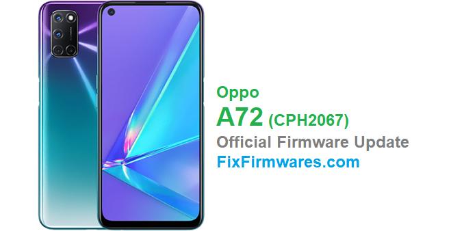 Oppo A72 Firmware Update CPH2067
