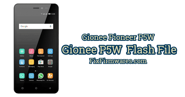Gionee P5W Flash File
