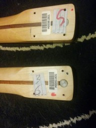 Very close serial numbers. The necks are from 2003 (new) and 2004 (broken).
