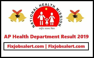 AP Health Department Result 2019 @ cfw.ap.nic.in CFW AP ANM/ MPHA Results, Merit List