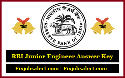 RBI Junior Engineer Answer Key 2019 23rd Feb RBI JE Question Paper, Cut Off