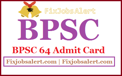 BPSC 64 CCE Mains Admit Card 2019 Bihar PSC CCE Exam Date
