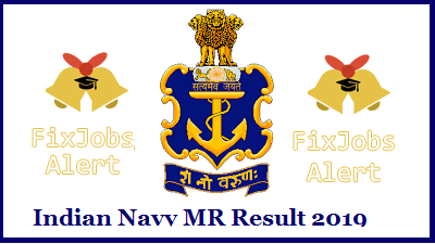 Indian Navy MR Result 2019 @ joinindiannavy.gov.in Stewards, Chefs, And Hygienists Merit List