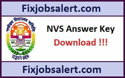 NVS Answer Key 25th March 2019 Download Teacher Paper Solution, Cutoff