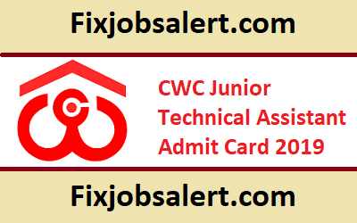 CWC JTA Admit Card 2019 @ cewacor.nic.in Exam Date