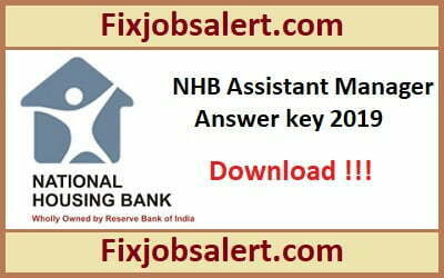 NHB Assistant Manager Answer Key 2019 21st April Paper Solution, Cut Off