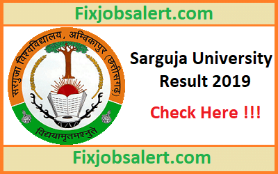 Sarguja University Result 2019 for BA-B.Sc-B.Com 1st-2nd-3rd Year Results