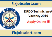 DRDO Technician-A Recruitment 2019 Apply Online for 351 Post CEPTAM-9 @ drdo.gov.in