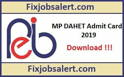 MP DAHET Admit Card 2019 @ peb.mp.gov.in MP Diploma in Animal Husbandry Entrance Exam Hall Ticket