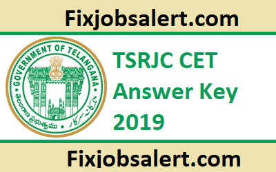 TSRJC CET Answer Key 2019 @ tsrjdc cgg gov in 19th May Exam Key