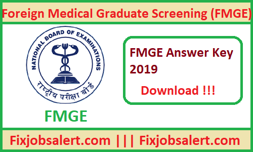 FMGE Answer Key 2019 28th June Exam Answer Sheet, Paper Solutions