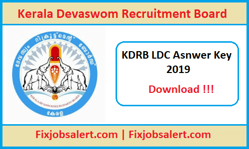 KDRB LDC Answer Key 8th June 2019 Paper Solution, Cut Off Marks @ kdrb.kerala.gov.in