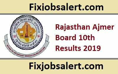 Rajasthan Ajmer Board 10th Results 2020 @ rajeduboard.rajasthan.gov.in RBSE 10th Class Result ~ Name Wise