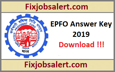 EPFO Assistant Answer Key 2019 30th, 31st July Set Wise Paper Solution, Cut Off