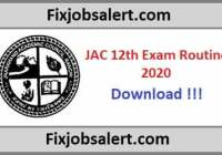 JAC 12th Exam Routine 2020, Jharkhand Board 12th Arts, Science, Commerce Time Table