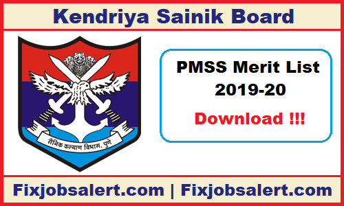 PM Scholarship Merit List 2019-20 PMSS CAPF & AR Selected List