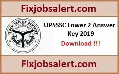 UPSSSC Lower 2 Answer Key 28th July 2019 Paper Solution Subordinate, Cut Off Marks