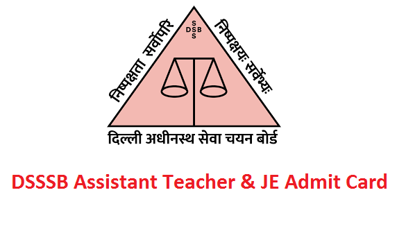 DSSSB Assistant Teacher Admit Card 2019 Download Post Code 15/19 & 16/19 Exam Date