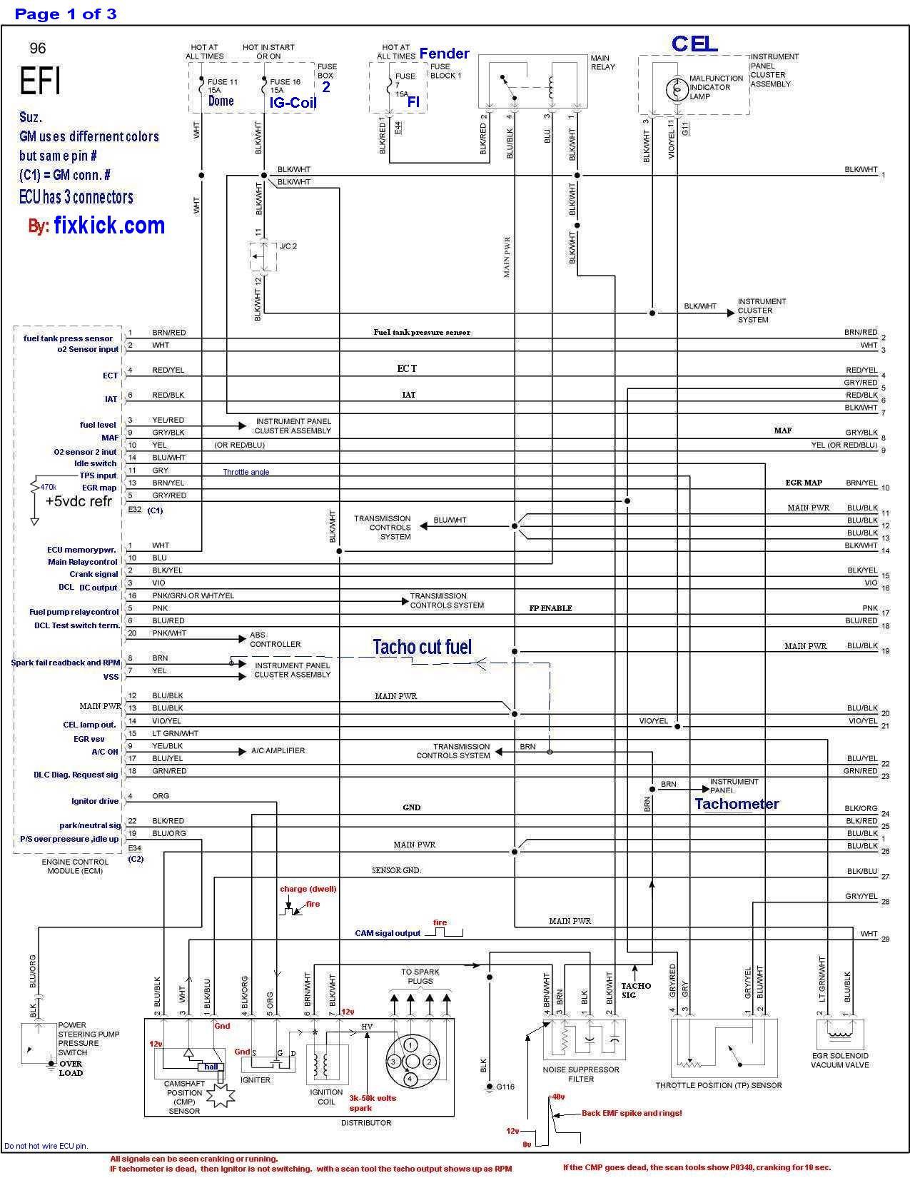 Geo Tracker Engine Diagram Rear